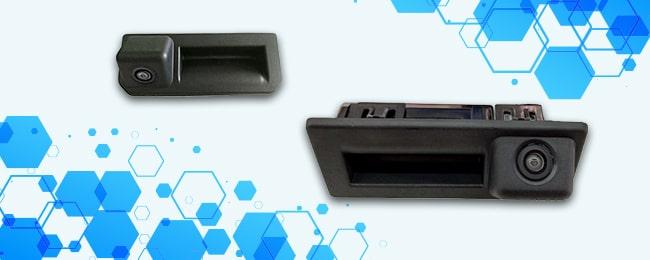 Штатные камеры в ручку багажника