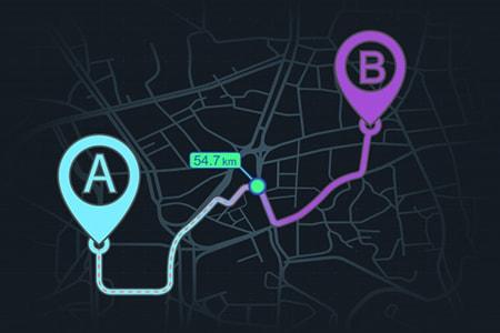 Онлайн/офлайн навигация с лицензионными картами